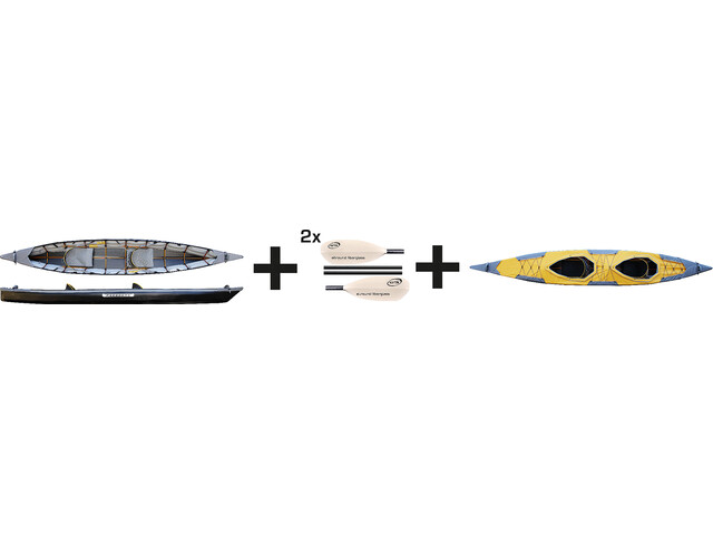 Pakboats Puffin Saranac Kayak Jubelpaket yellow/black